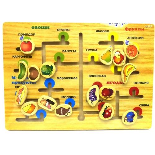 Деревянный лабиринт Живая природа, фрукты
