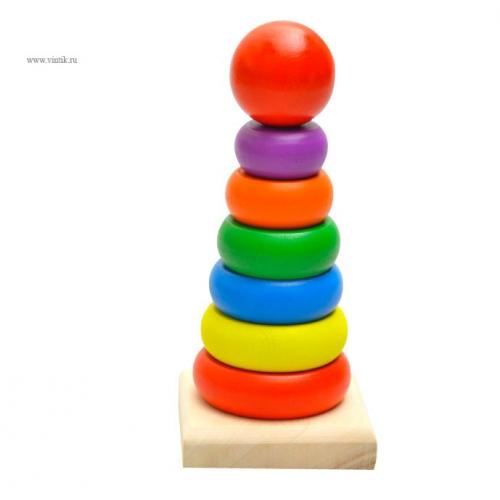 Деревянная пирамидка малая 8249