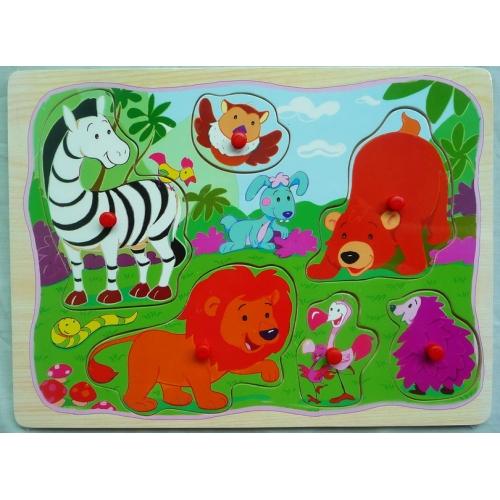 Пазл дикие животные в джунглях