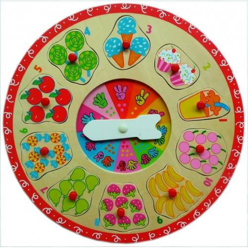 Детские деревянные часы-пазл Вкусняшки 8643