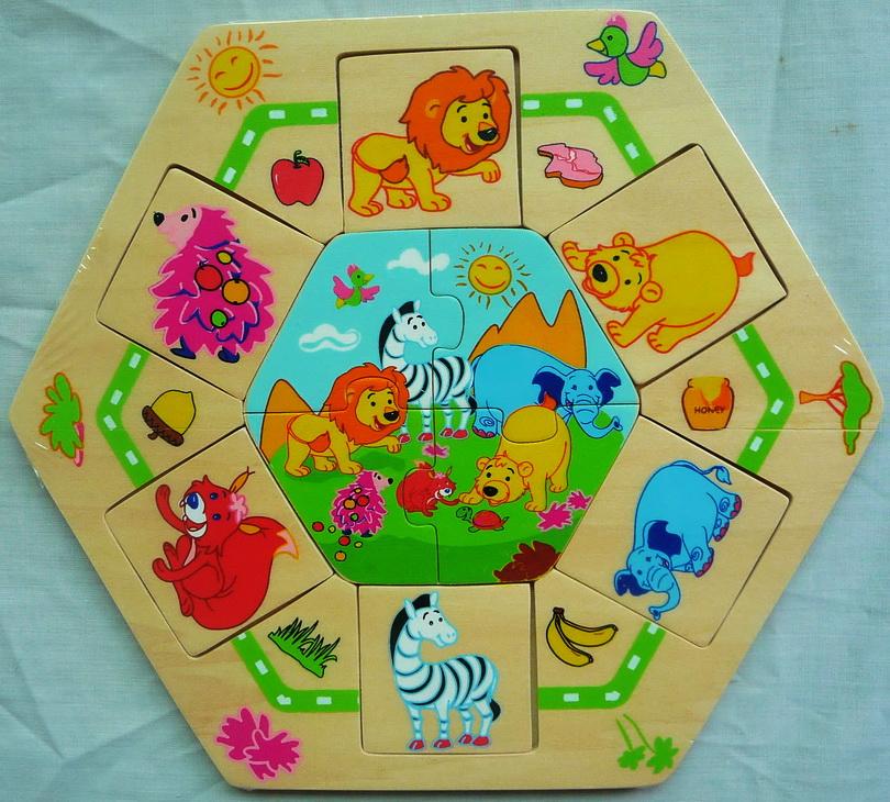 Деревянный пазл Животные Африки 8648