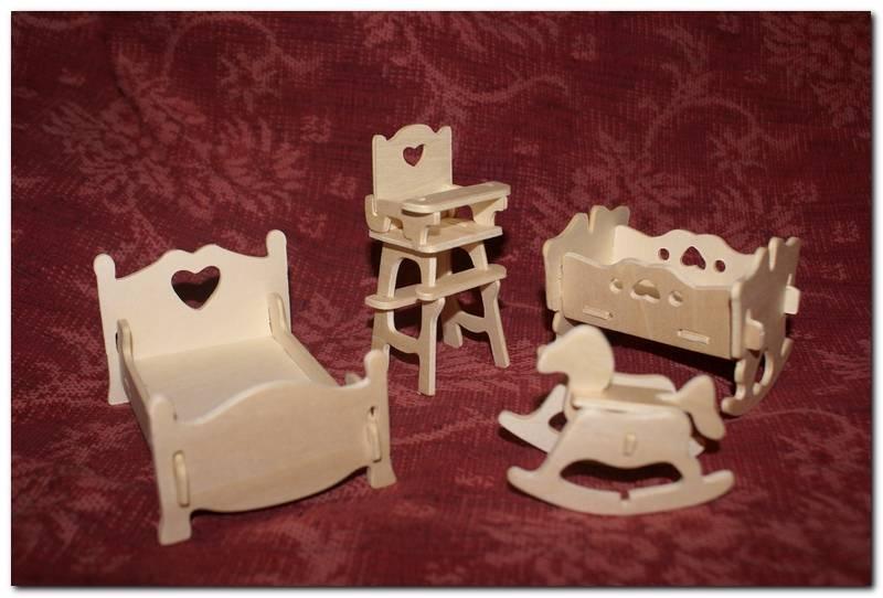 Кукольная мебель из фанеры своими руками схемы.