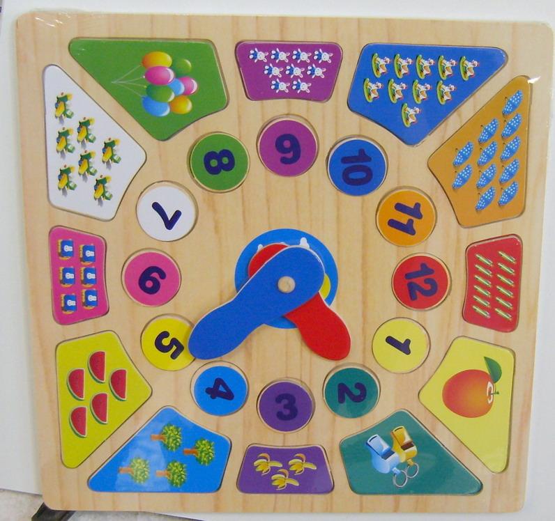 Детские деревянные часы считалка 3335