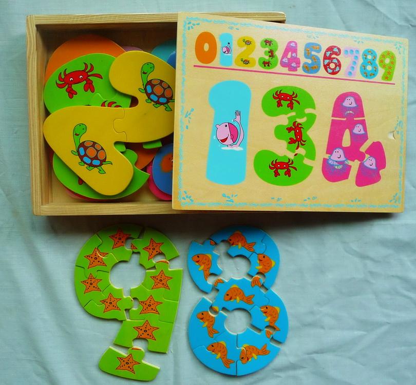 Детская деревянная рамка-вкладыш Цифры 8616