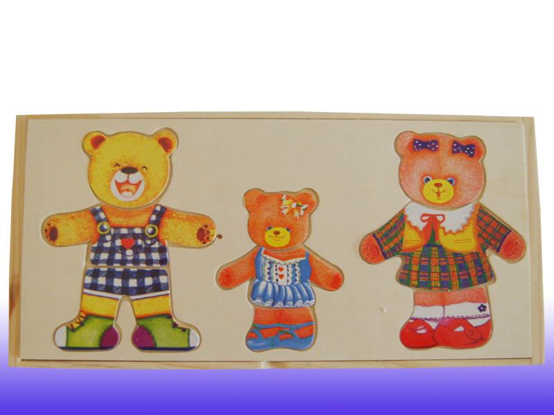 Детская деревянная рамка-вкладыш Три медведя