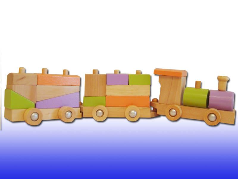 Деревянный поезд-конструктор 6202