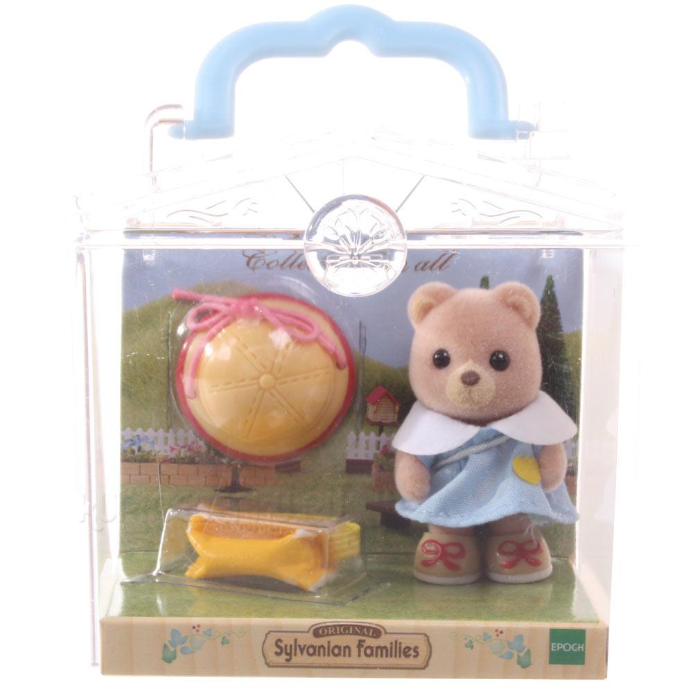 Sylvanian Families - Младенец в пластиковом сунд Медвежонок с сумочкой
